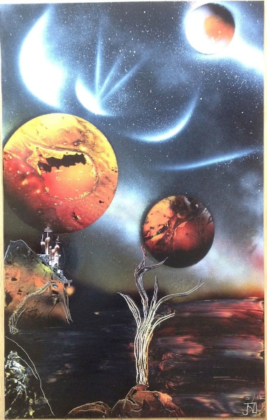 Fantasy spray paint art dreams captured in paint buy for Artworks for sale online