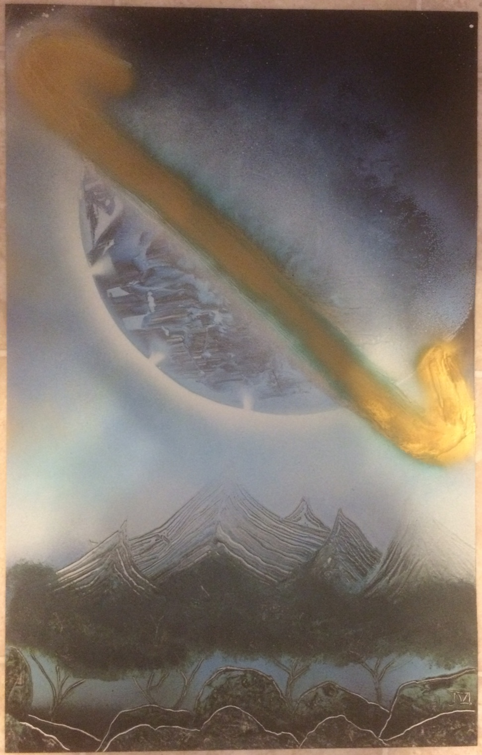 Spray paintings for sale online fantasy spray paint art for Art for sale on line