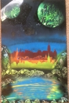 ITEM#: M036 - 3Teir City - Spray Paint Art for Sale