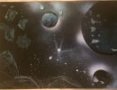 ITEM#: M030 - Asteroids - Spray Paint Art for Sale