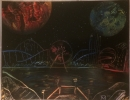 ITEM#: S011 - Carnival Theme Park 1 - Spray Paint Art for Sale
