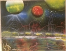 ITEM#: S013 - Carnival Theme Park 2 - Spray Paint Art for Sale