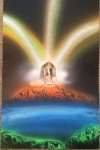 ITEM#: M035 - Crystal in the Cave - Spray Paint Art for Sale