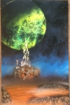 ITEM#: M037 - Demon Fortress - Spray Paint Art for Sale