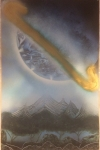 ITEM#: M003 - Giant Saturn - Spray Paint Art for Sale