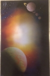 ITEM#: M012 - Giant Sun - Spray Paint Art for Sale