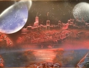 ITEM#: M022 - Harbor Cove 2 - Spray Paint Art for Sale