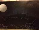 ITEM#: M027 - Las Vegas Strip Moonlight - Spray Paint Art for Sale
