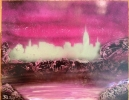 ITEM#: S015 - Pink City - Spray Paint Art for Sale