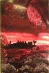 ITEM#: M007 - Red Vegas - Spray Paint Art for Sale