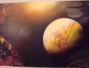 ITEM#: M031 - Cave Planet - Spray Paint Art for Sale