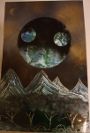 ITEM#: M011 - Mountain Planet - Spray Paint Art for Sale