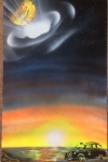 ITEM#: M033 - Taxi To The Wormhole - Spray Paint Art for Sale