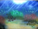 ITEM#: M020 - Underwater Turtles 1 - Spray Paint Art for Sale
