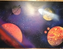 ITEM#: M018 - Vibrant Spacescene 1 - Spray Paint Art for Sale