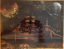 ITEM#: S008 - Warm Light City - Spray Paint Art for Sale