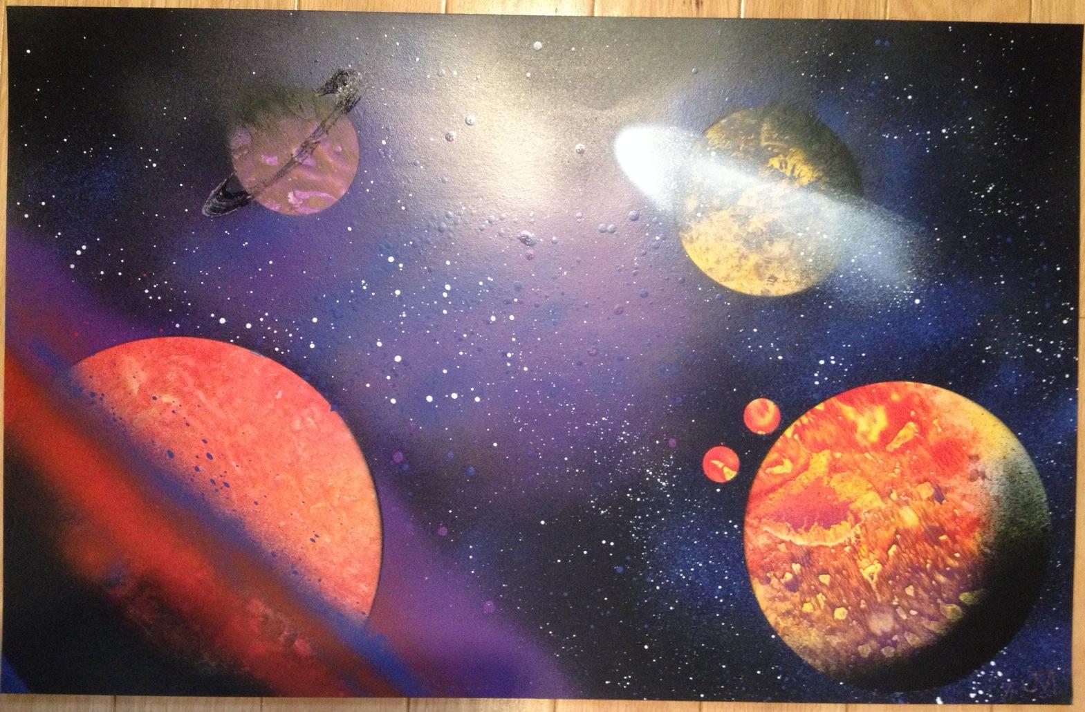 spray paintings for sale online fantasy spray paint art. Black Bedroom Furniture Sets. Home Design Ideas